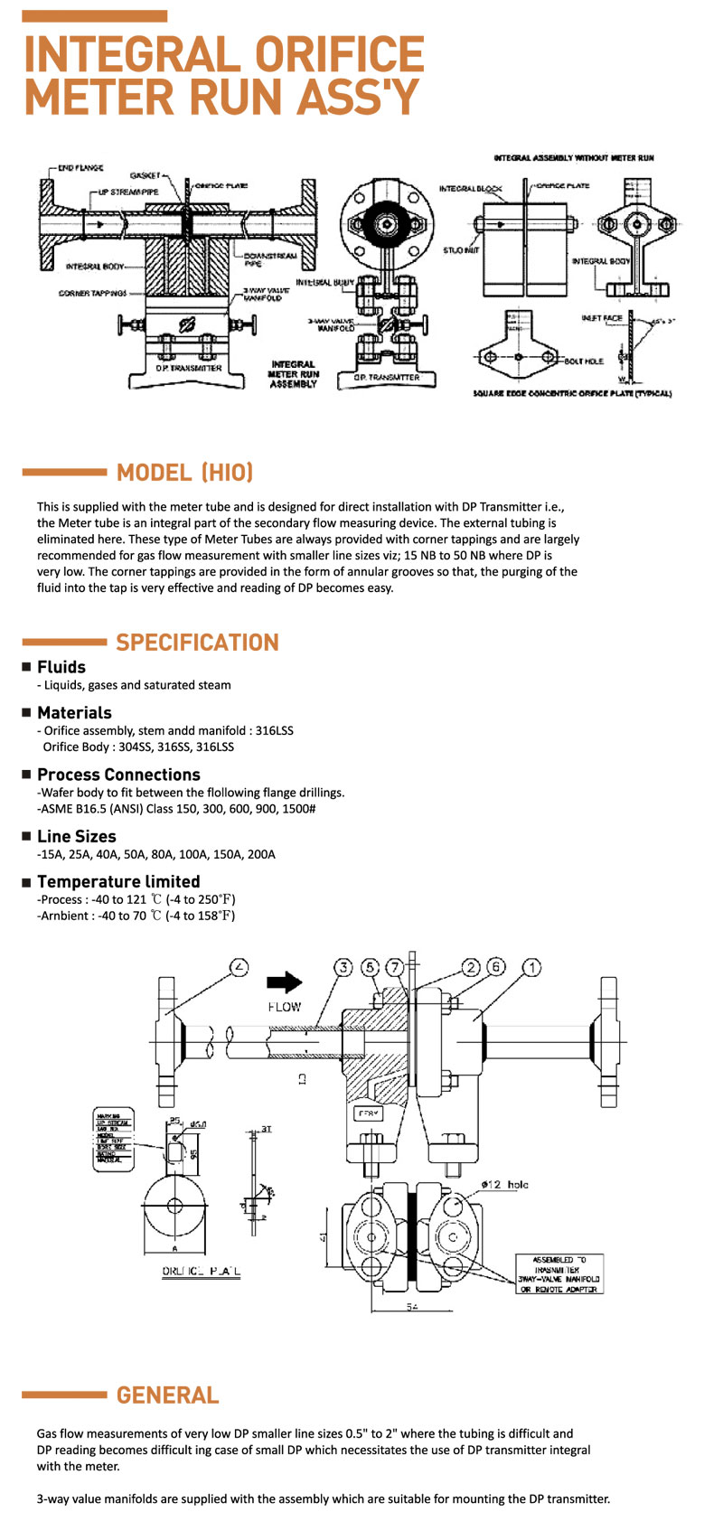 HITELFI Integral Orifice Meter Run Assemblies