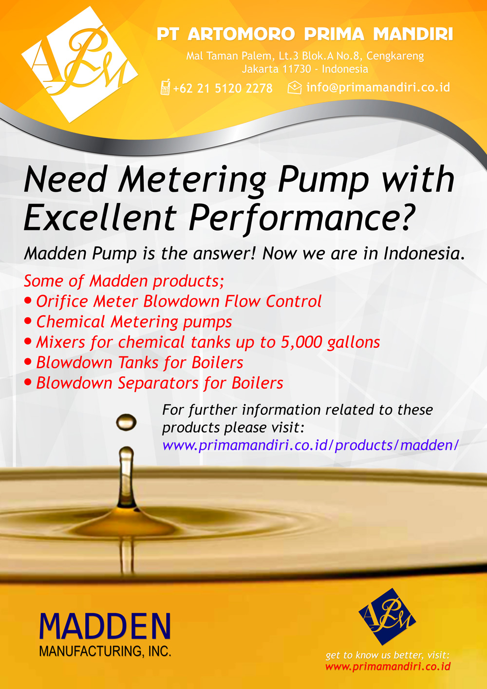 Madden Manufacturing - PT Artomoro Prima Mandiri